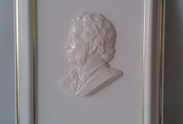 Барельеф Пушкин в рамке